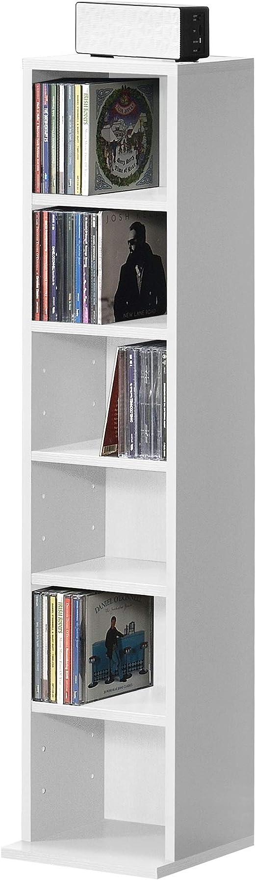 en.casa Bücherregal CD Regal Standregal Regal Aufbewahrung 12 Fächer Dunkelgrau