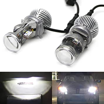 uxcell 2 Pcs 9012 35W 6000K White SMD 6 LED Headlight Lamp Bulb Conversion Replacement