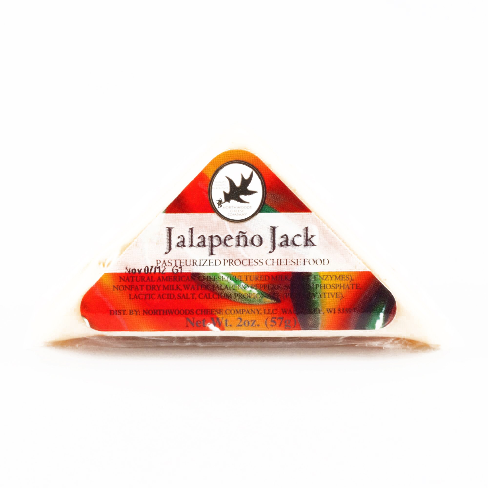 Northwoods Jalapeno Jack Mini Cheese 2 oz each (3 Items Per Order, not per case)