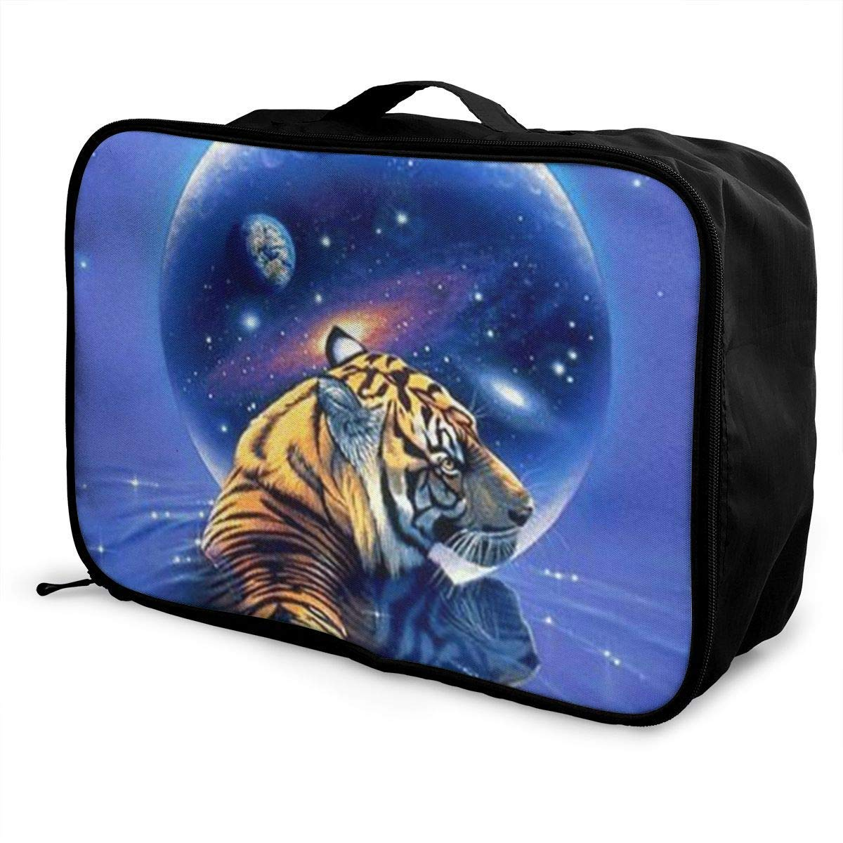 Portable Luggage Duffel Bag Space Tiger Travel Bags Carry-on In Trolley Handle