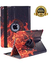 "New iPad 9.7 inch 2018 2017/ iPad Air Case - 360 Degree Rotating Stand Smart Cover Case with Auto Sleep Wake for Apple iPad 9.7"" (6th Gen, 5th Gen)/iPad Air (Fire)"