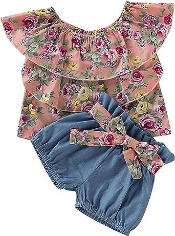 US Kids Baby Girl Sleeveless Tassel Tops Dress Bowknot Shorts Clothes Sunsuit