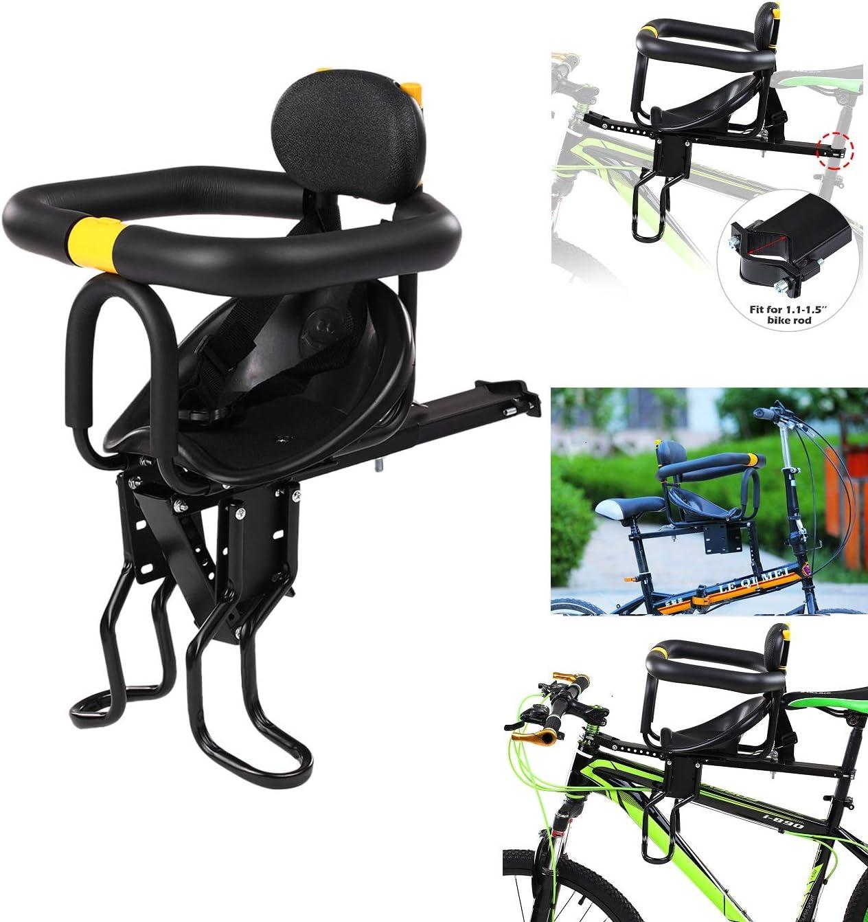 Fahrradsitz Kinder f/ür Herrenfahrr/ädern und Damenr/ädern Abnehmbar Fahrradkindersitz Vorne mit Pedal und Griff TETAKE Kindersitz Fahrrad