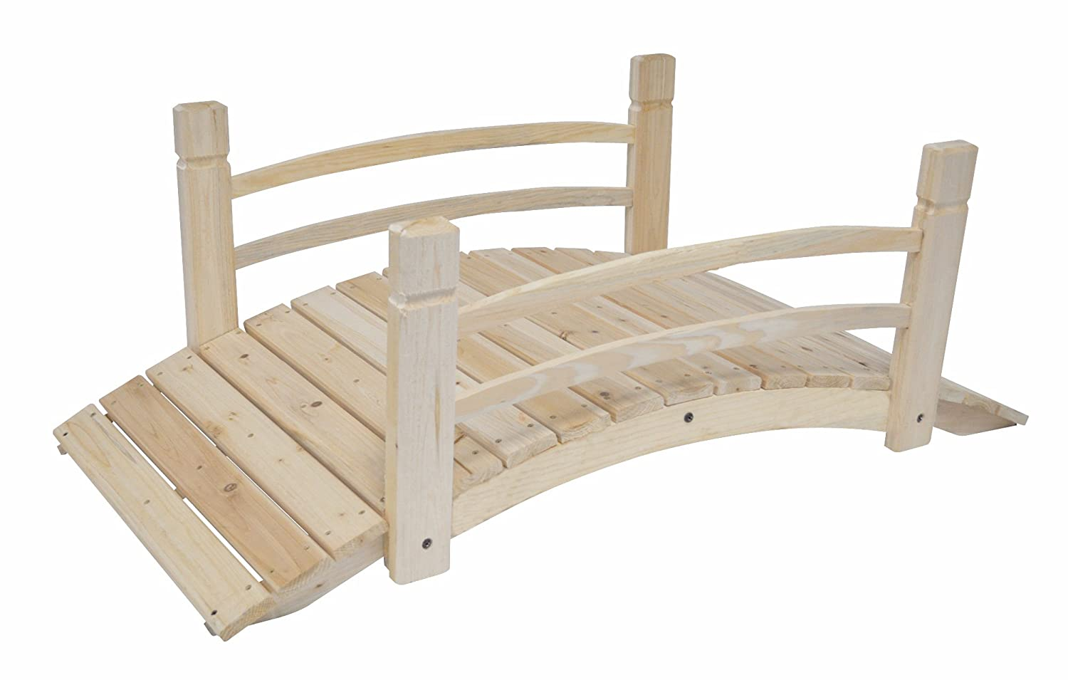 Amazoncom Shine Company Ft Cedar Garden Bridge Natural - Garden bridges