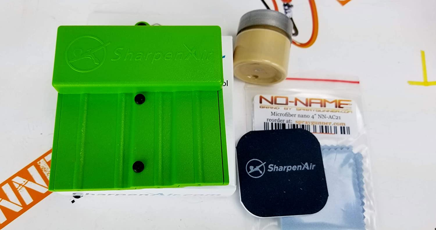 Green Special by SprayGunner SharpenAir Airbrush Needle Sharpening Restoration kit with Compound and Microfiber