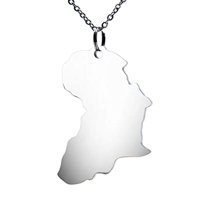 Amazon.com: Fanery Sue Map Africa Personalized Necklace Name ...