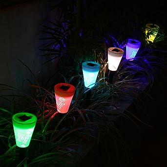 OxyLED Eclairage Extérieur Solaire pour Décoration Lot de 6 Lampes on