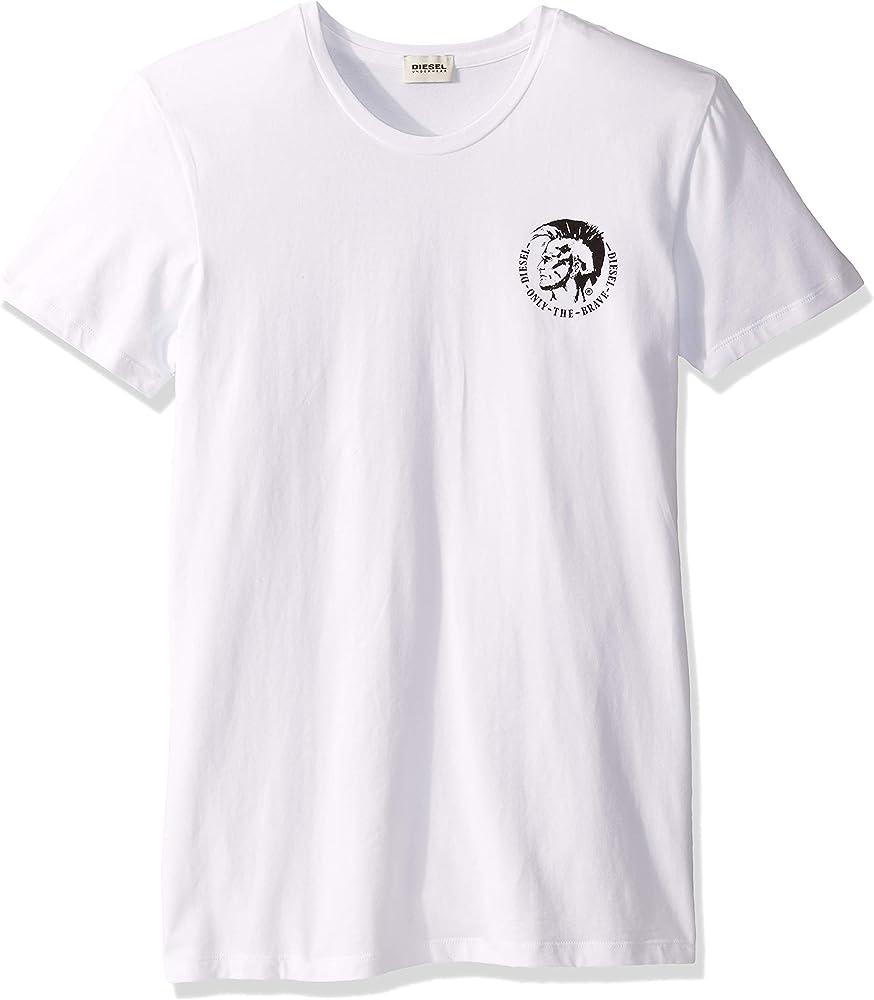 Diesel de los Hombres 3 Pack Randal Camisetas, Blanco, XS: Amazon ...