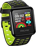 GPS Smart Sports Watch, WELOOP Fitness Activity Tracker Heart Rate&Sleep Monitor Smartwatch, Outdoor 5ATM Waterproof Running Swimming Cycling with Customizable Watch Faces for iPhone Android -Green
