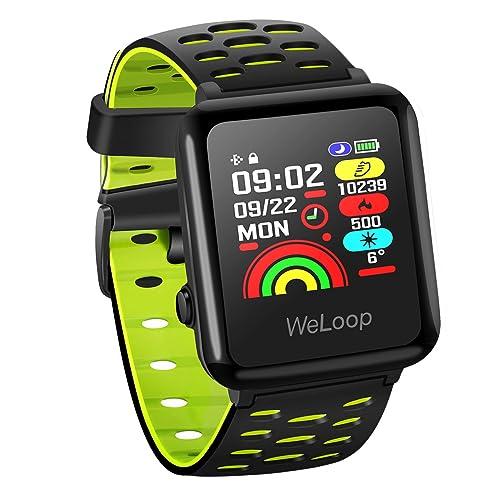 OMORC GPS Smartwatch, intelligent Sportuhr Bluetooth Laufuhr Fitness Aktivitätstracker Herzfrequenz- und Schlafmonitor 5ATM wasserdicht Laufen Schwimmen Radfahren