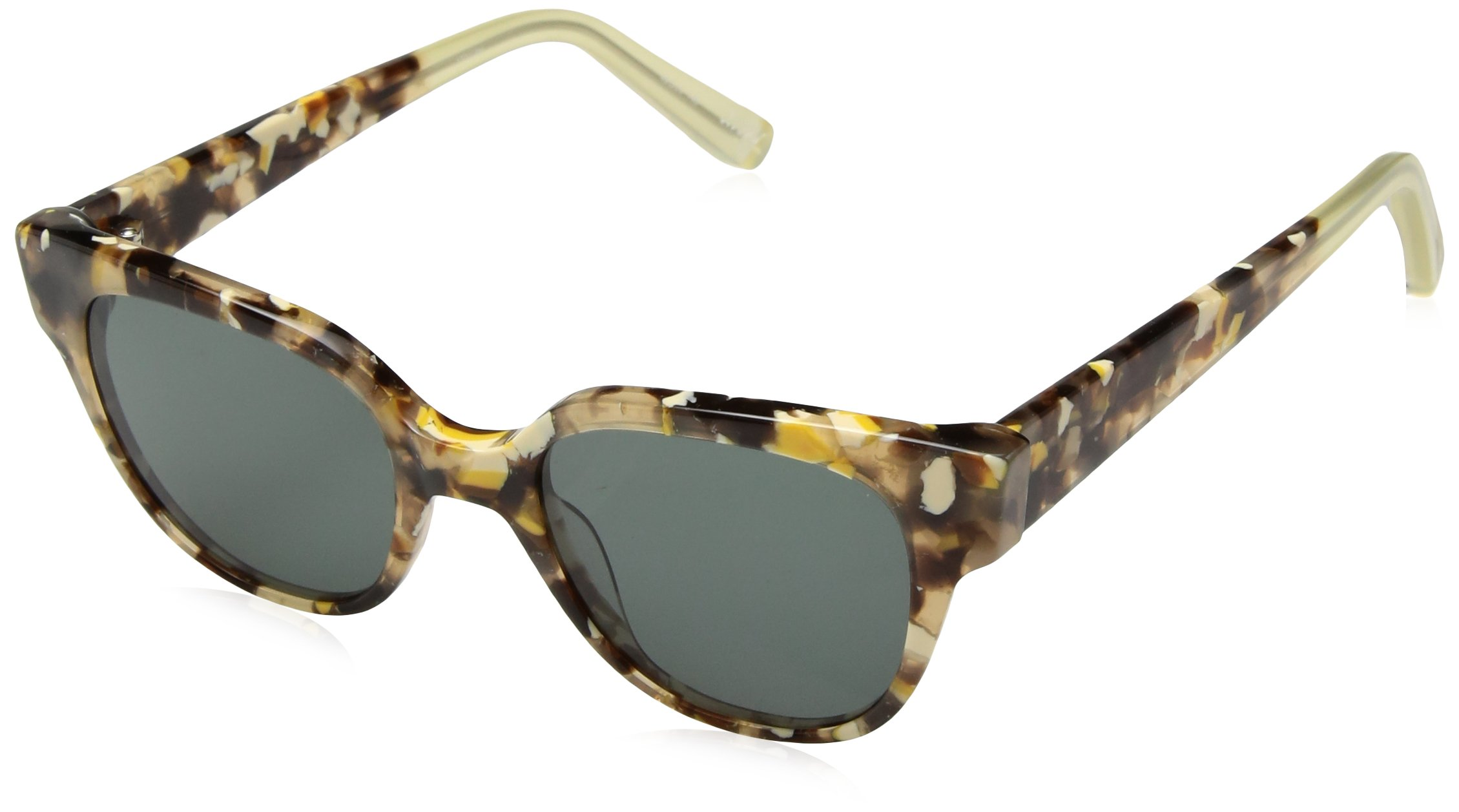 Elizabeth and James Women's Avory Wayfarer Sunglasses, Amber Tortoise, 49 mm by Elizabeth and James