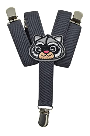Baby//Childrens 0-2 Years Elasticated Clip on Braces//Suspenders with Animal Design