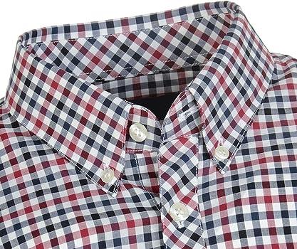 Fred Perry Hombres Camisa de Guinga de Cuatro Colores m5550 850 ...