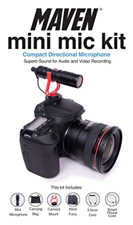 Maven - Mini micrófono para cámaras réflex Digitales: Amazon.es ...