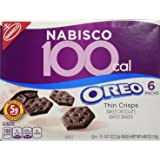 100 Calorie Packs Oreo Thin Crisps, 6-Count Packs, net weight 4.86 oz (Pack of 2)