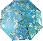 GLODEALS Automatic Umbrella, Creative Oil Painting Automatic Folding Umbrella Anti UV