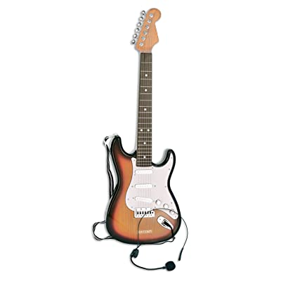 Bontempi Bontempi241310 Electric Guitar with Headeset Micro with Conn.Mp3, Multi-Colors: Toys & Games