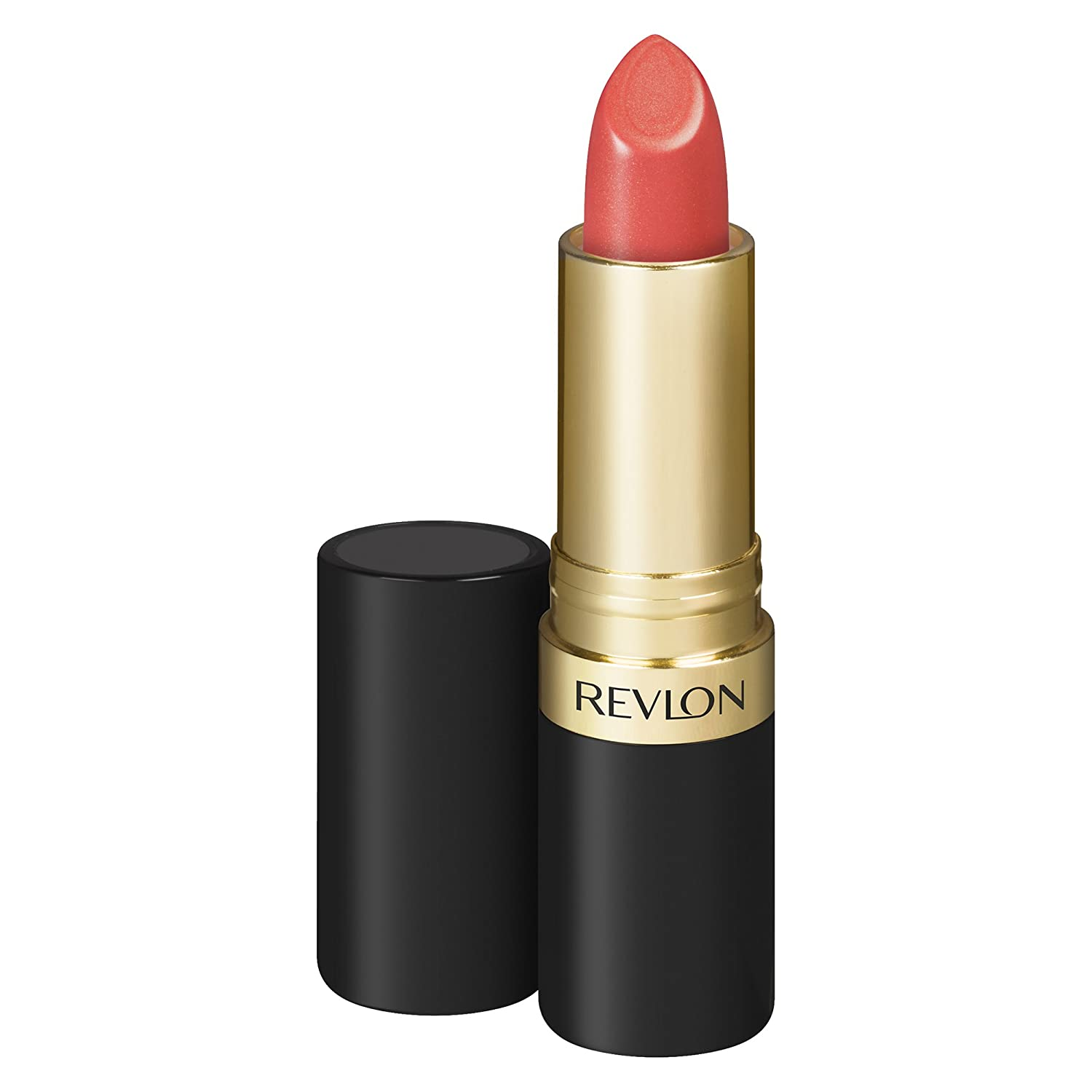 Revlon Super Lustrous Lipstick with Vitamin E and Avocado Oil, Cream Lipstick in Coral, 674 Coral Berry, 0.15 oz