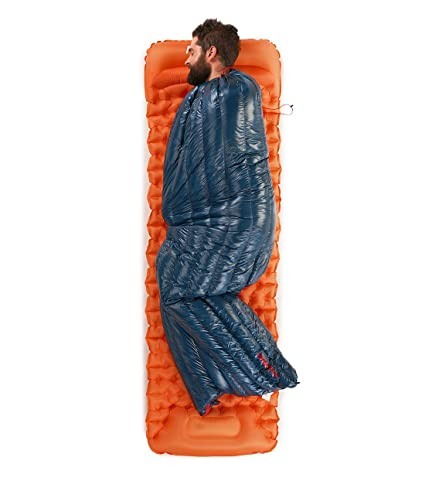 Naturehike Ultraligero de plumón de ganso blanco Rectangular Sacos de dormir de invierno 2 ℃ Límite (Azul marino): Amazon.es: Deportes y aire libre