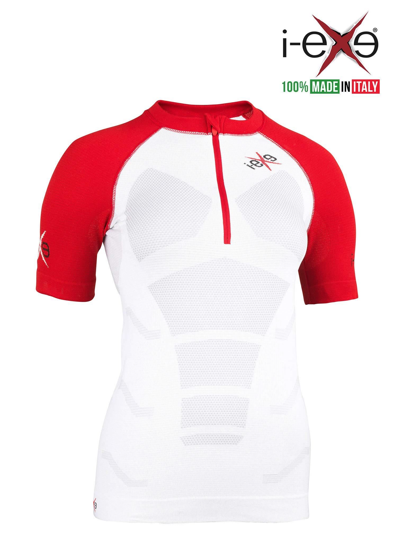 I-EXE Womens Compr T-Shirt CLR: White, SZ: S to M