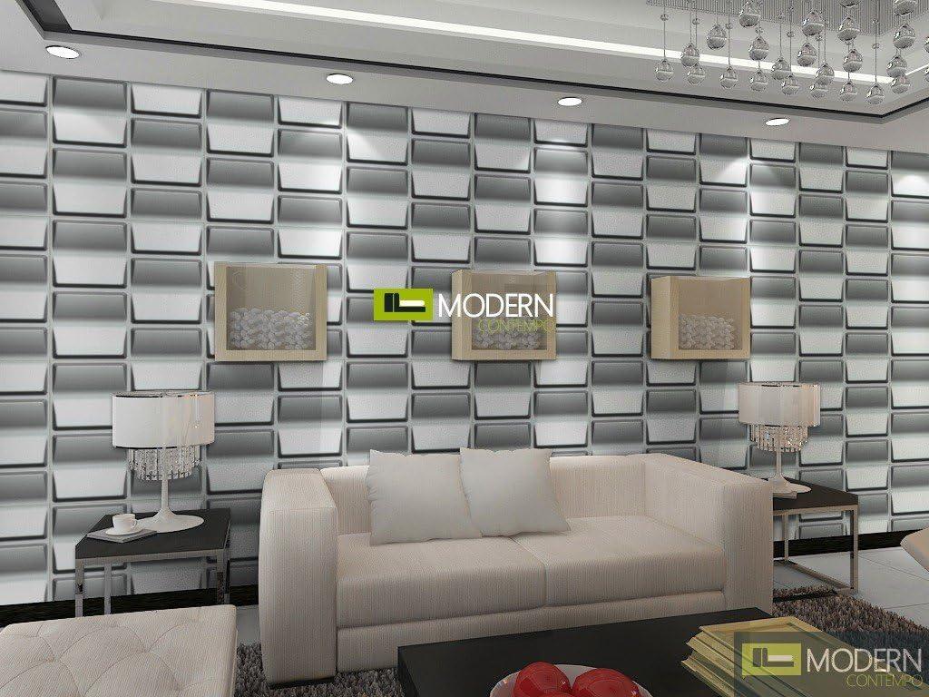 Vent 3d Wall Panels - Box of 12 - 32 Sq Ft PVC Exterior & Interior Glue on Wall