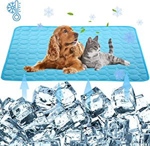 iphonepassteCK Pet Products Cool Mat-Dog Cooling Mat, Summer Pet Cooling Pads, Ice Silk Cooling Mat for Dogs & Cats, Portable & Washable Pet Cooling Blanket for Kennel/Sofa/Bed/Floor/Car Seats