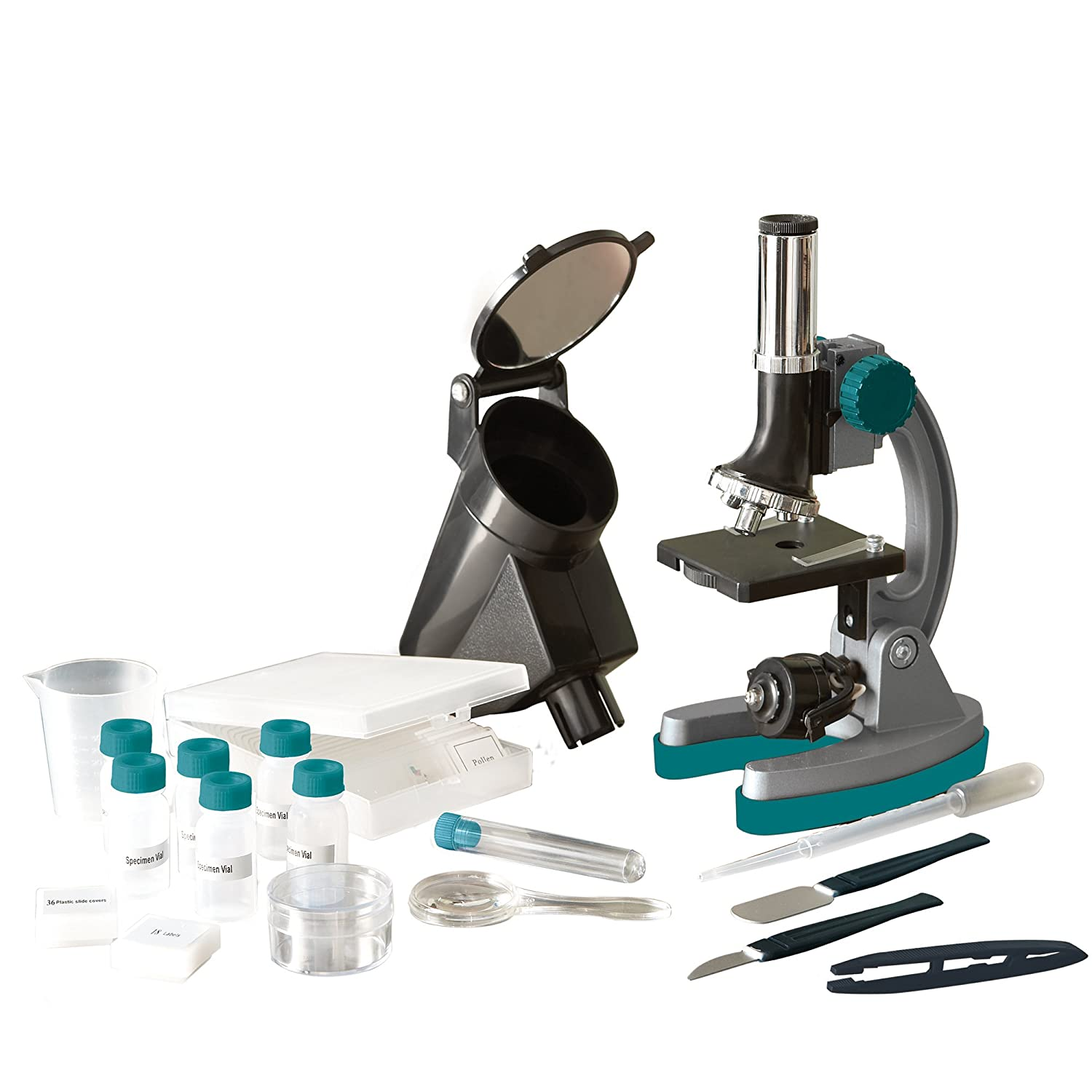Learning Resources MicroPro Elite 98-Piece Microscope Set 5302 98 piece kit includes 50x 150x