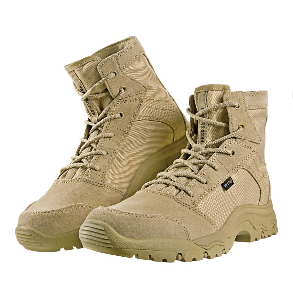 Free SoldierアウトドアメンズStorm Ultralightタクティカルブーツ通気性耐久性軽量靴 11.5 US サンド 色 B07F85YQ2P