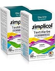Simplicol Textilfarbe Expert für Kreatives, Einfaches Färben, 18 Farbe, Farbe für Waschmaschine Oder manuelles Färben