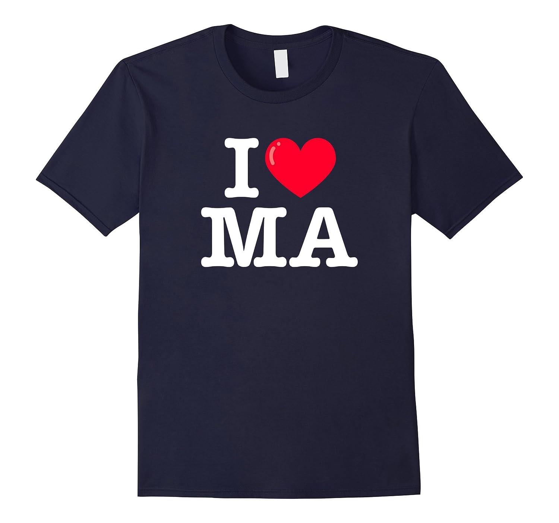 I Heart MA Classic Typewriter T-Shirt-Rose