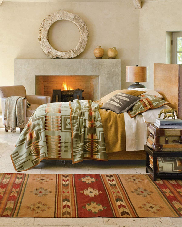 Thyme Twin Size 70056 5604 TWIN Pendleton Harding Jacquard Wool Bed Throw Blanket