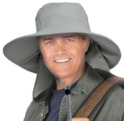 80359682 Tirrinia Outdoor Sun Protection Fishing Cap with Neck Flap Wide Brim Hat  for Men Women Baseball, Backpacking, Cycling, Hiking, Garden, Hunting,  Camping