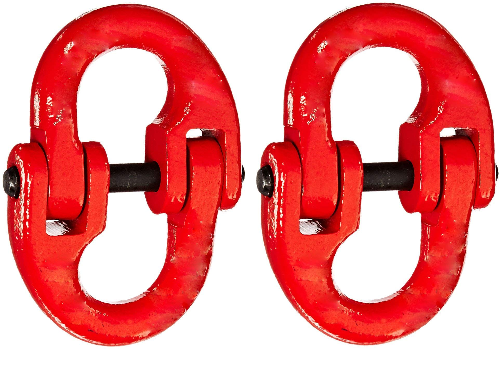 Indusco 54400012 Painted Grade 80 Drop Forged Alloy Steel Connecting Link, 1/2'' Trade, 12000 lbs Working Load Limit (Тwo Рack)