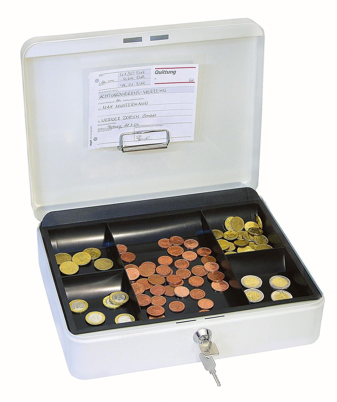 4 Cassetta Portavalori con Clip Bianco Wedo 145400H Gr 30.0 x 24.0 x 9.0 cm