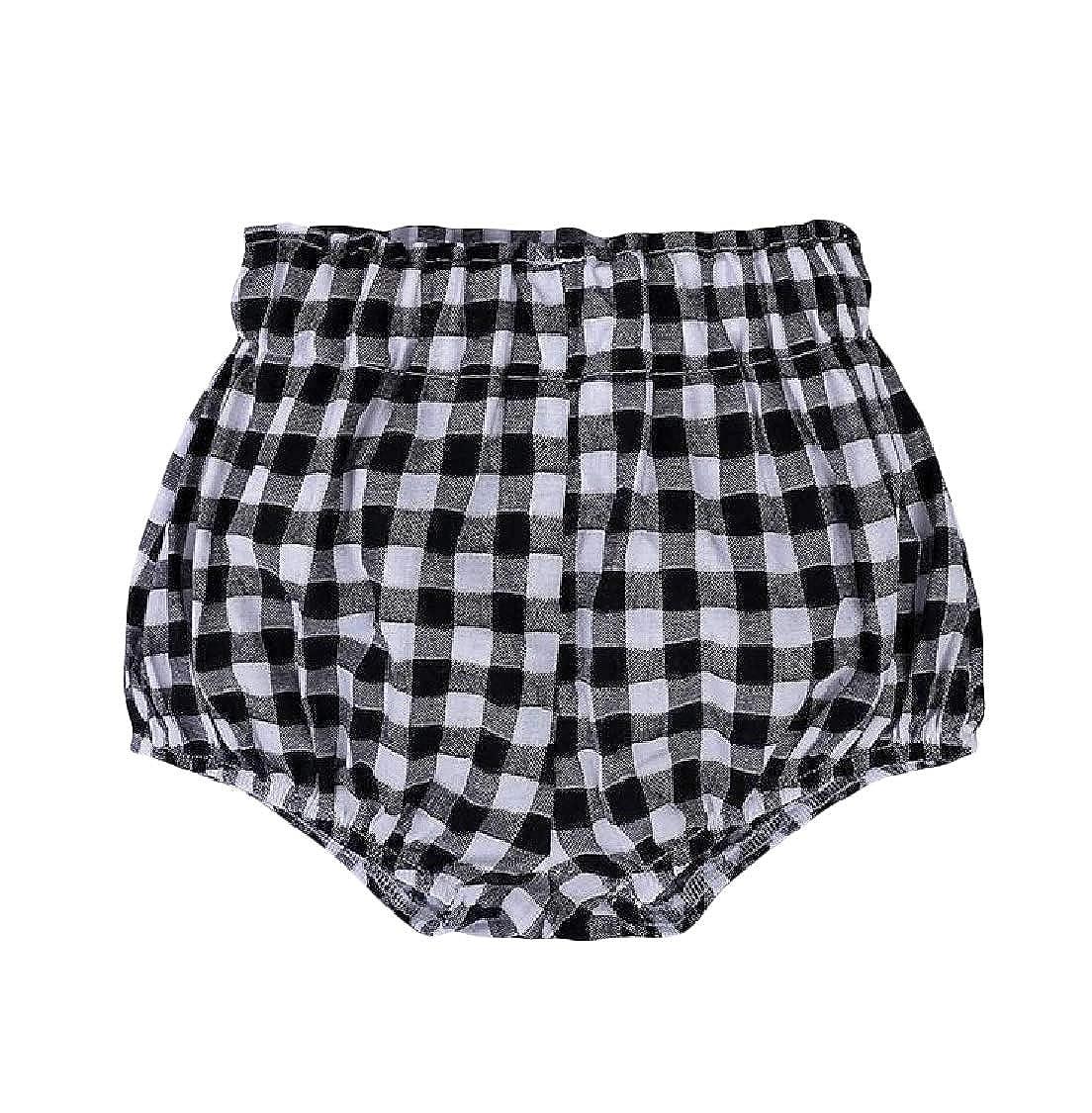 Pandapang Girls Casual Corduroy Elastic Waist Cute Boys Short