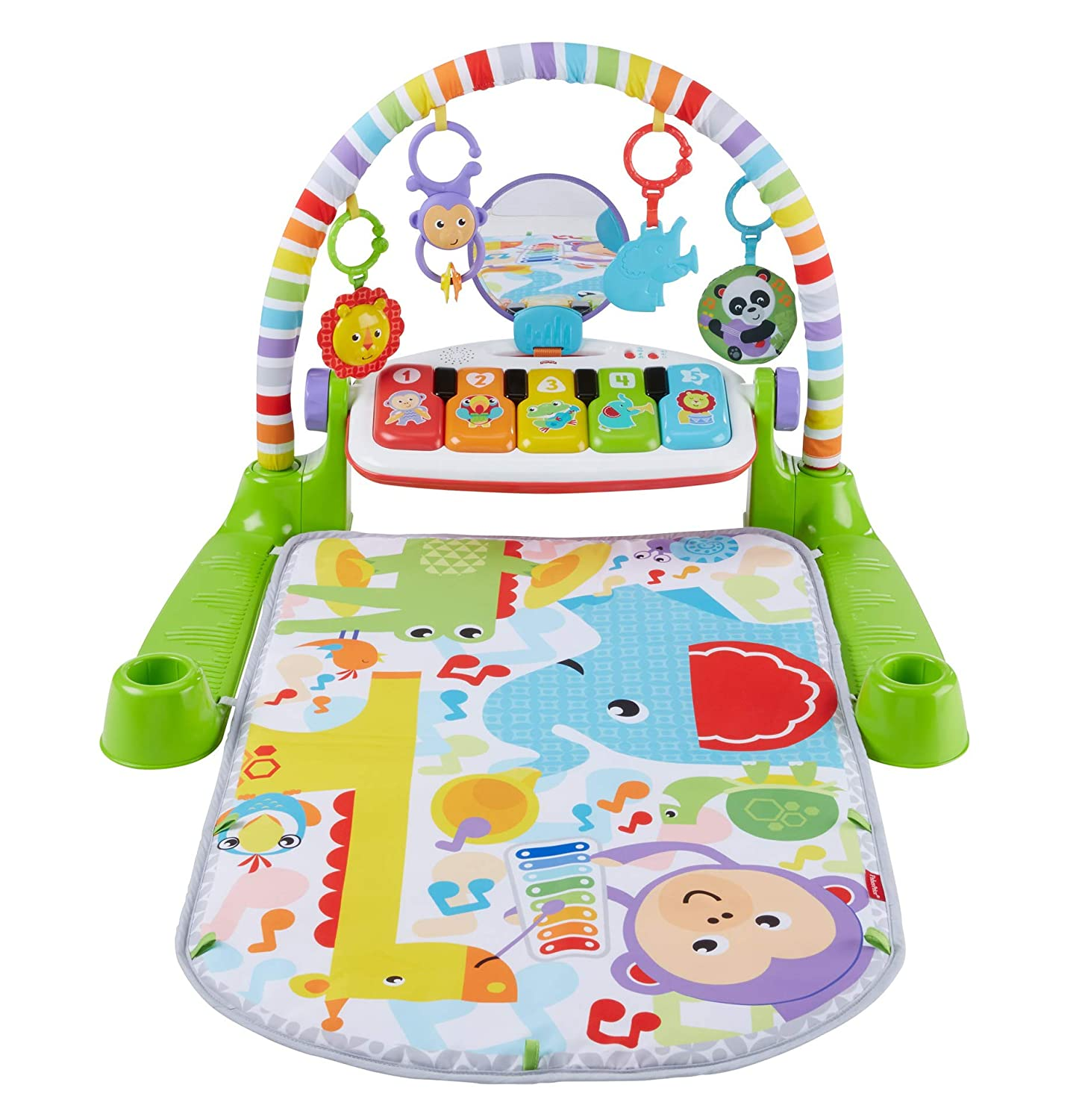 Fisher-Price Deluxe Kick & Play Piano Gym, Green [French] GCY16