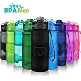 Best Reusable Water Bottle - 400ml & 500ml &700ml & 1000ml Non-Toxic BPA Free & Eco-Friendly Tritan Co-Polyester Plastic - Lockable Flip Top Lid, Opens With 1-Click With Filter For Kids School & Adult