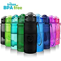 Sport Water Bottle- 380/ 500/ 700 /1000ml Tritan Bottles For Kids/ Adult- Leak Proof & BPA-Free, Eco-friendly Portable Sports Bottles With Filter, Flip Top Lid, Pop Opens With 1-Click - Reusable