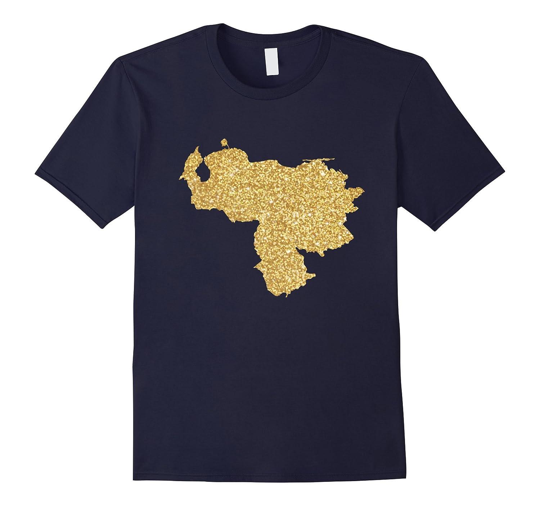 VENEZUELA MAP GOLD SHIRT-Vaci