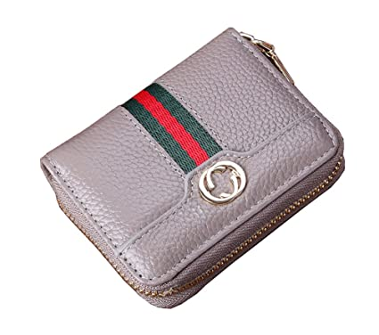 6a9715f03ee3 LXJ STORE Women Men RFID Blocking Credit Card Holder Cards Case Wallet  Leather Multi Stripe Card Protector Safe Small Purse for Travel Work  Shopping ...