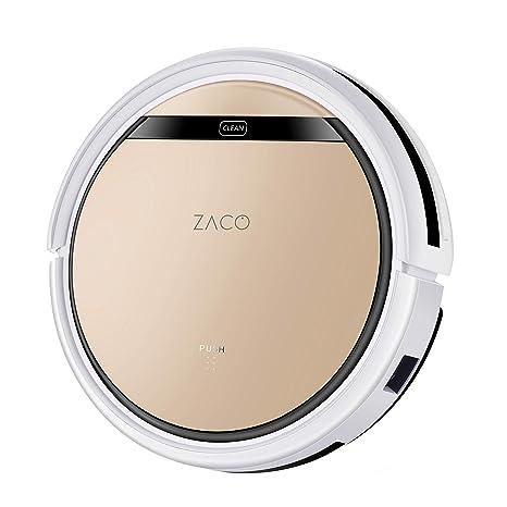 ZACO V5sPro Robot aspirador con función de limpieza, robot aspirador automático, húmedo limpiar o aspirar hasta 180 m2, para suelos duros, protección ...