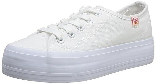 Coolway Morgalis - Zapatillas de Tela para Mujer, Color Blanco, Talla 40: Amazon.es: Zapatos y complementos