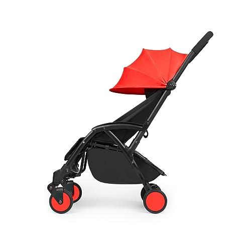 Silla de paseo de bebé Aurora de Ickle Bubba, color rojo