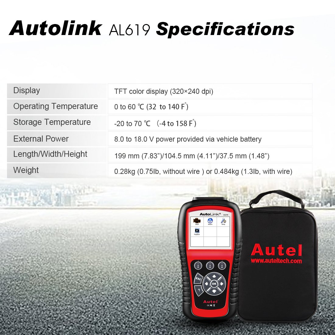Autel AL301 die ABS/SRS + Kann OBDII Diagnosegerät AutoLink, AL619 ...
