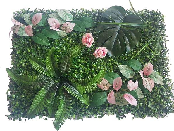Césped del jardín 60 * 40 cm falso Artificial Grass Milán pared fondo de las plantas