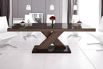 Tavolo da pranzo design He 888 marrone/noce - Wenge lucido ...