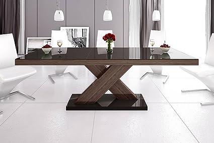 Tavoli Da Pranzo Design : Tavolo da pranzo design he marrone noce wenge lucido