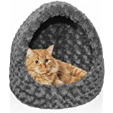 Furhaven Hood Pet Bed Dome for Cats and Small Dogs
