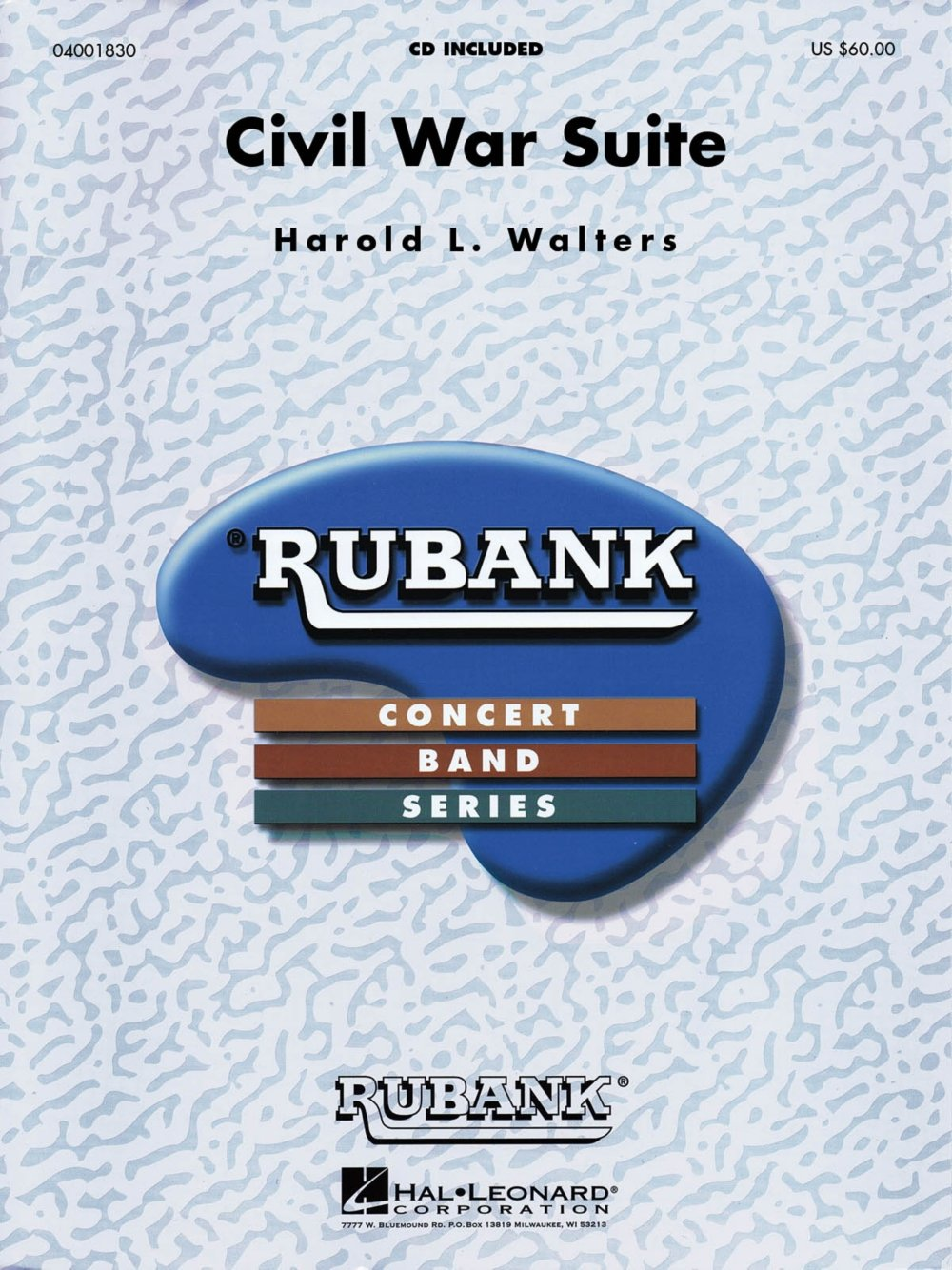 Rubank Publications Civil War Suite Concert Band Level 4-5 Arranged by Harold Walters pdf epub