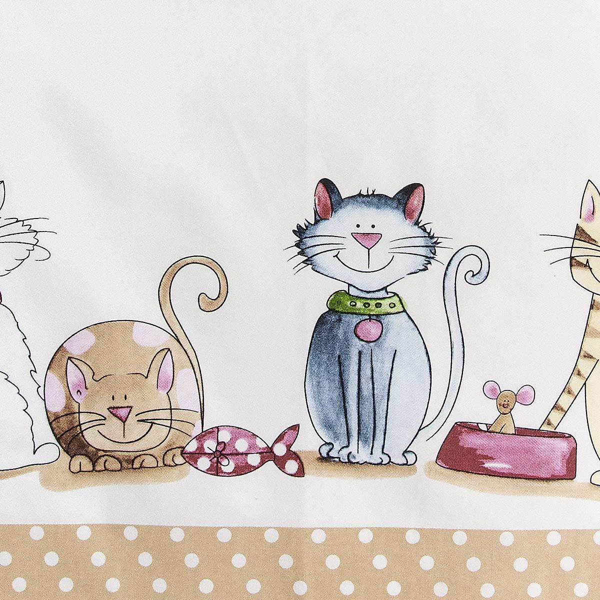 Regalo Originale per Gli Amanti dei Animali SPOTTED DOG GIFT COMPANY Set 2 Strofinacci da Cucina 50 x 70 cm Bel Disegno di Gatti Asciugamani da Cucina in Cotone